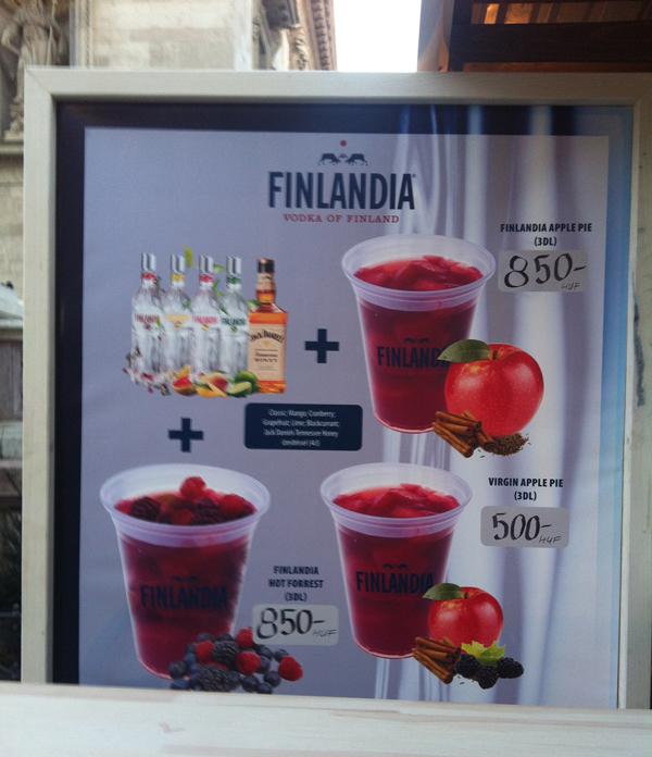 Finlandia forró ital árak