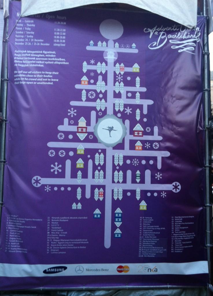 Molinó térkép az adventi vásárról