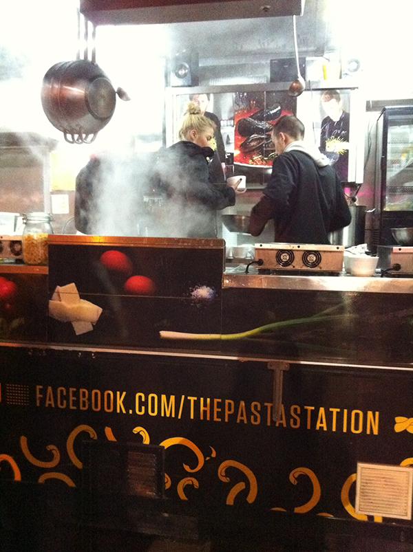 Köd a Pasta Station fülkében